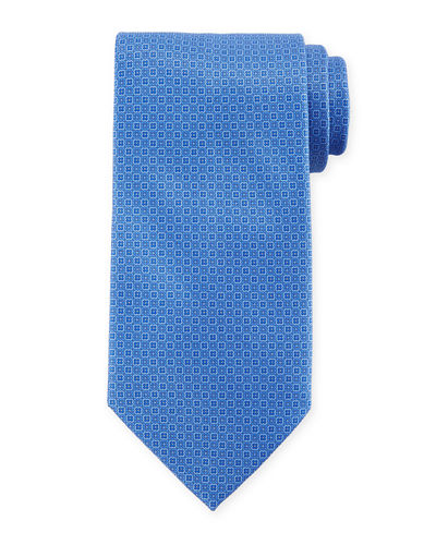 Small Diamond Silk Tie