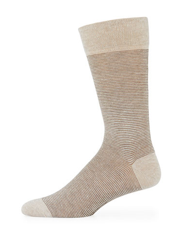Tailor Striped Linen-Blend Socks