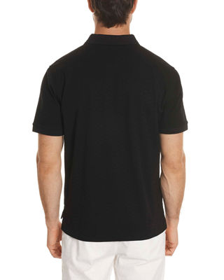 Image 2 of 2: Edwin Tonal-Pattern Polo Shirt