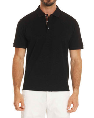 Image 1 of 2: Edwin Tonal-Pattern Polo Shirt