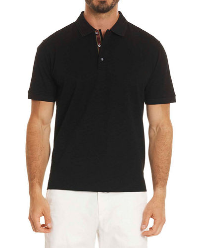 Edwin Tonal-Pattern Polo Shirt