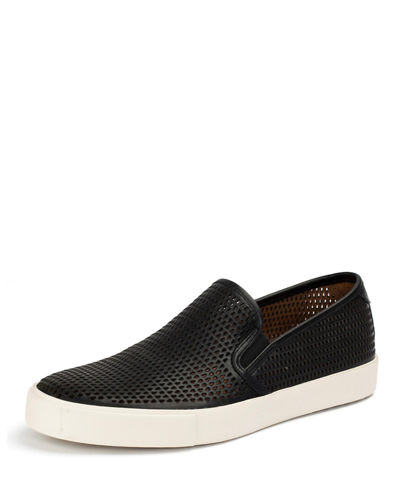 Brett Perforated Leather Slip-On Sneaker