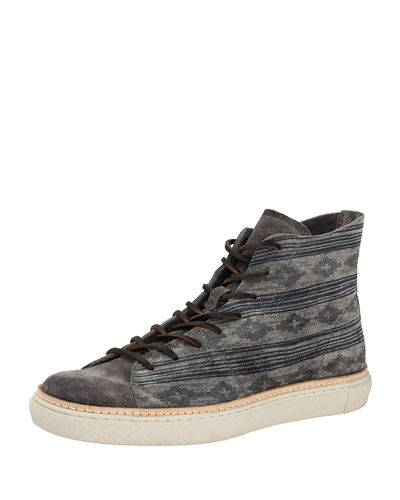 Gates Printed Suede High-Top Sneaker