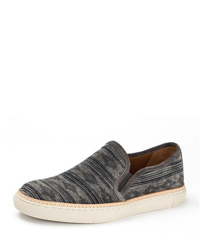 Gates Print Suede Slip-On Sneaker