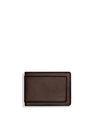 Shinola Men's Layered Slim Bifold Leather 2.0 Wallet