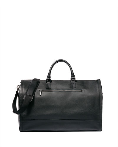 Leather Garment Weekender Bag
