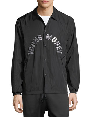Image 3 of 3: Coaches Snap-Front Jacket
