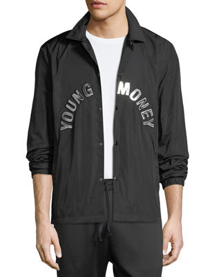Image 1 of 3: Coaches Snap-Front Jacket