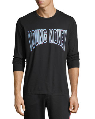 Young Money Long-Sleeve Logo Graphic T-Shirt
