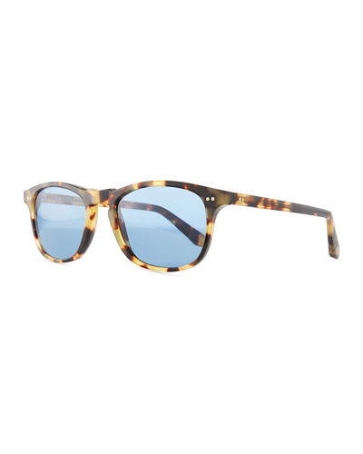 Skyline Polarized Tortoiseshell Square Sunglasses