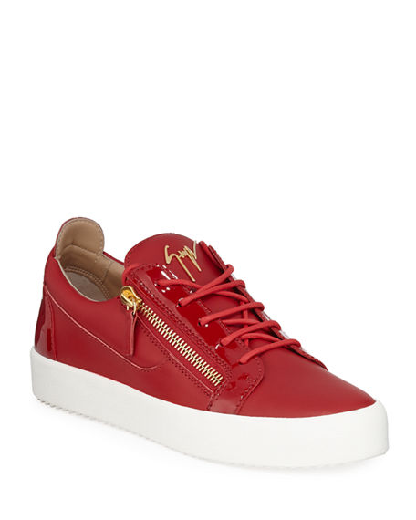Cheap Collections Giuseppe Zanotti Red calfskin leather low-top sneaker DOUBLE Cheap Eastbay Cheap Fake FkgO2