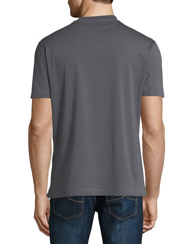 Washed Cotton V-Neck T-Shirt