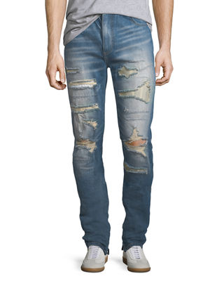 God's Masterful Children Furfante Distressed Slim-Straight Jeans