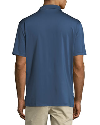 Image 2 of 3: E4 Midnight Stretch Polo Shirt
