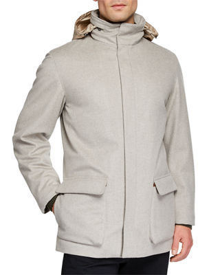 Image 2 of 3: Winter Voyager Cashmere Storm System Coat