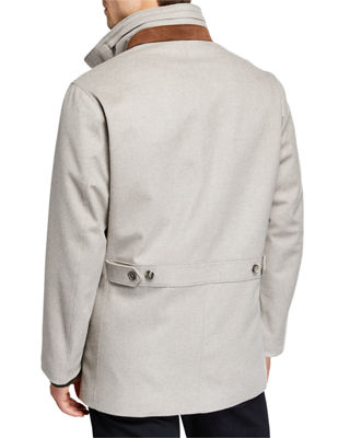 Image 3 of 3: Winter Voyager Cashmere Storm System Coat