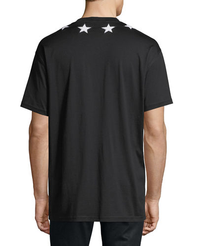 Men's Star-Patch Crewneck T-Shirt