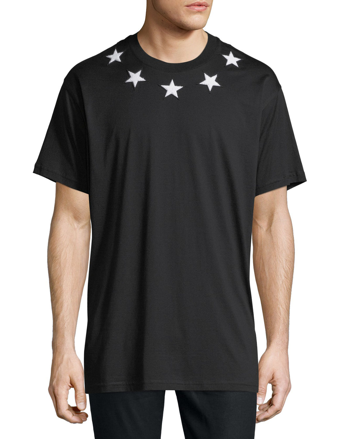 f84ae8863415 Givenchy Men s Star-Patch Crewneck T-Shirt