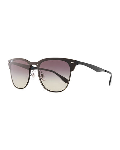 Blaze Clubmaster Lens-Over-Frame Men's Sunglasses