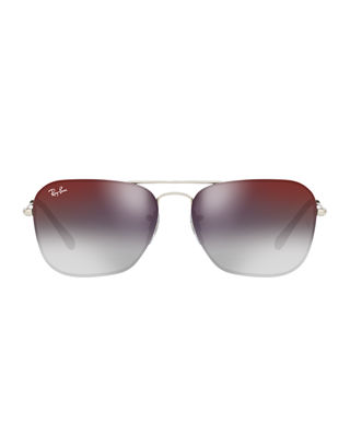 Ray-Ban Men's Gradient Metal Rounded Square Sunglasses