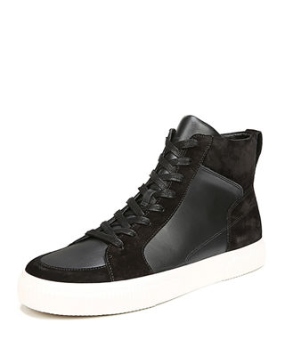 Kameron Suede and Leather High-Top Sneaker