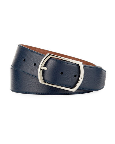 Reversible Grained Leather Belt