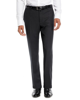 INCOTEX Benson Five-Pocket Standard-Fit Techno Wool Trousers in Charcoal