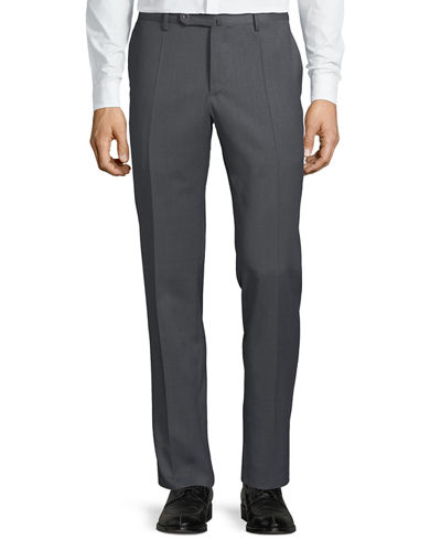 Men's Sergio Slim Stretch Techno-Wool Trousers
