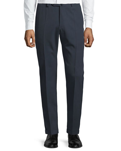 Men's Benson Crepe Wool Comfort Trousers