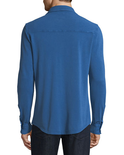 Men's Pique-Knit Polo Sport Shirt