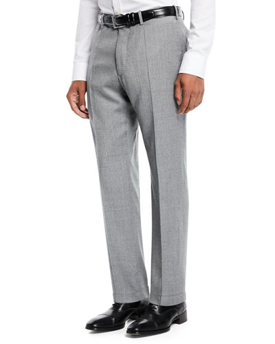 Benson Five-Pocket Standard-Fit Techno Wool Flannel Trousers