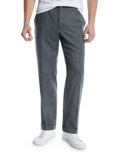 Incotex Men's Malon Wool Dress Pants