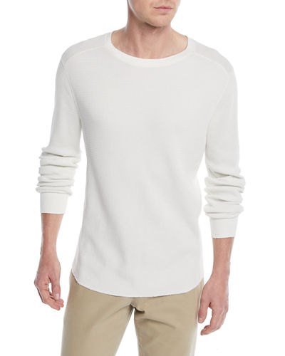 Men's Waffle-Knit Long-Sleeve T-Shirt