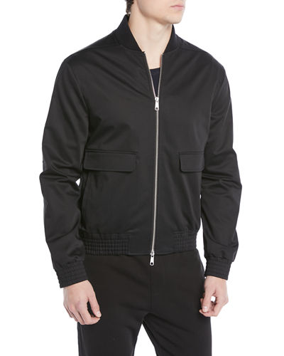Men's Flap-Pocket Cotton Bomber Jacket