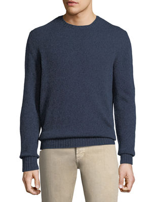 Loro Piana Men's Light Baby Cashmere Crewneck Sweater