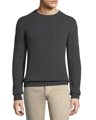 Men's Light Baby Cashmere Crewneck Sweater