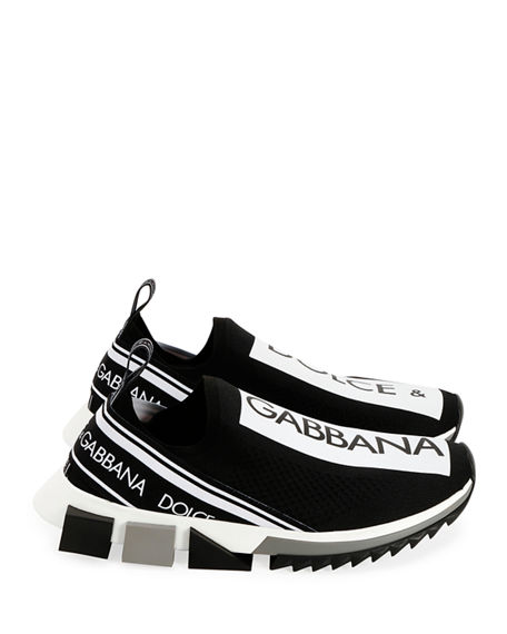 c94248a583f Dolce   Gabbana Men s Sorrento Logo-Stripe Sock Sneakers