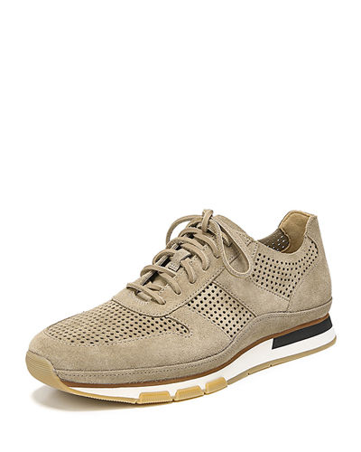 Men's Larson Peforated Suede Sneaker
