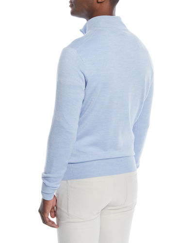 Men's Crown Soft Half-Zip Wool/Silk Sweater