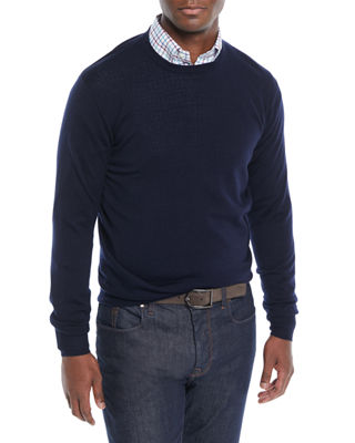 Peter Millar Men's Crown Soft Wool/Silk Crewneck Sweater