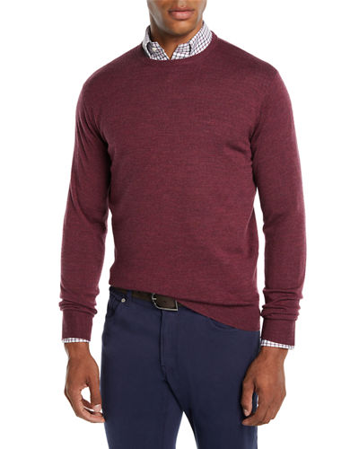 Men's Crown Soft Wool/Silk Crewneck Sweater
