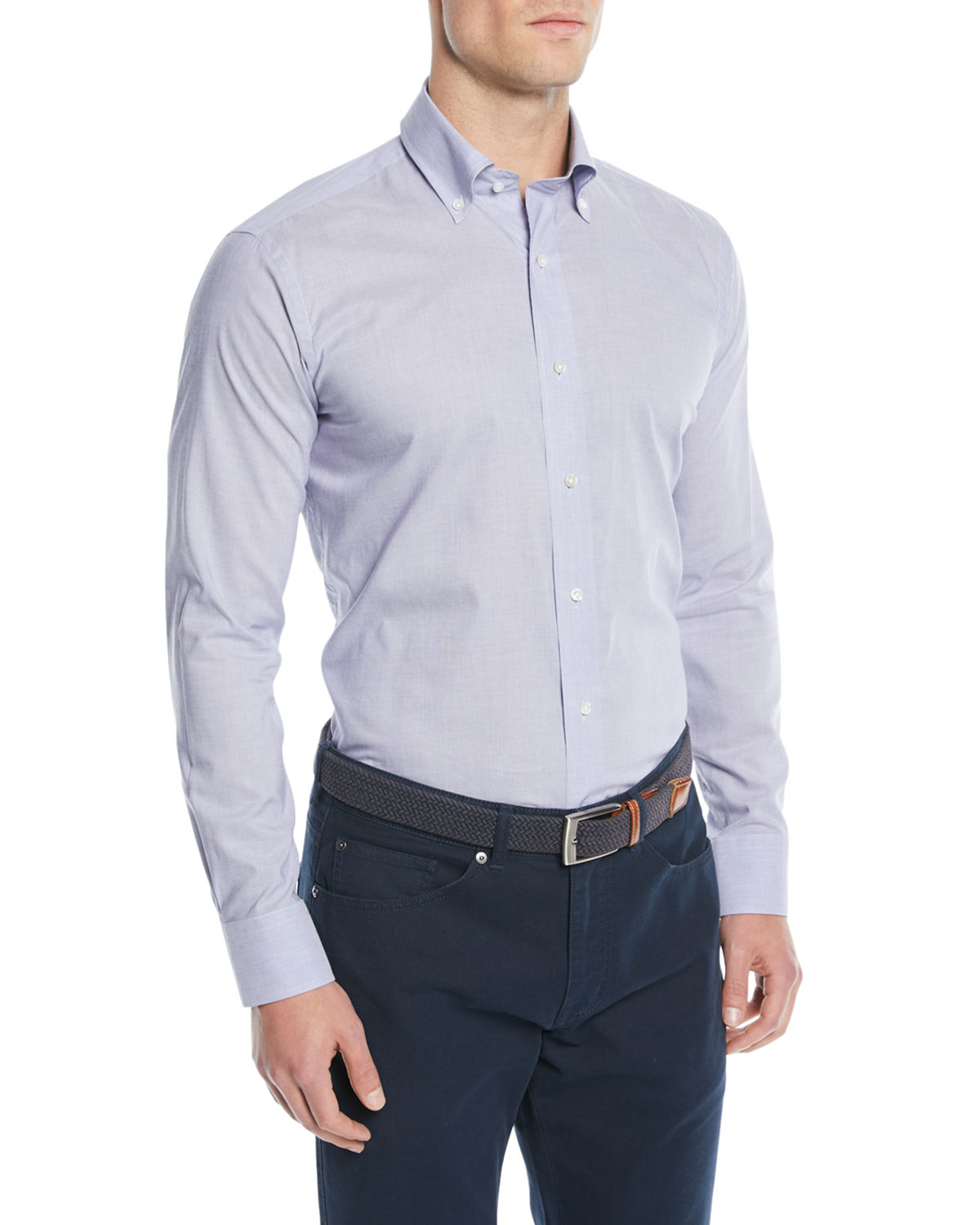 Men's Collection Chambray Sport Shirt