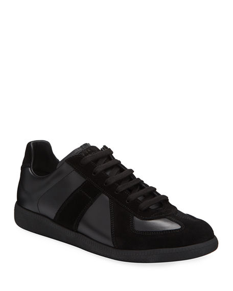 Maison Margiela Replica Men's Leather & Suede Low-Top Sneakers