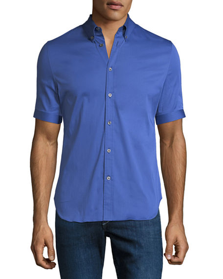 Alexander McQueen Men's Short-Sleeve Sport Shirt