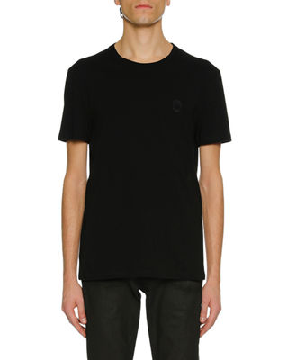 Alexander McQueen Men's Skull Applique Jersey T-Shirt