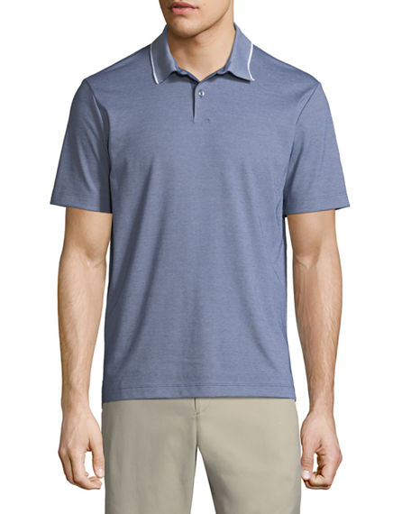 Image 1 of 5: Theory Standard Pique Polo Shirt