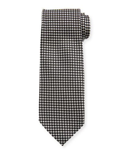 Herringbone Check Silk Tie
