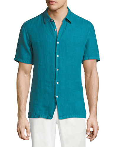 Men's Irving Summer Linen Short-Sleeve Sport Shirt