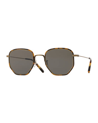 Men's Alland Square Metal/Acetate Sunglasses