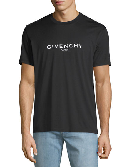 Givenchy Men's Destroyed Logo Graphic T-Shirt